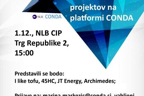 Vabilo na predstavitev novih projektov na platformi Conda