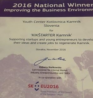 KIKštarter med najboljšimi podjetniškimi projekti v EU
