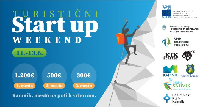 Vseslovenski turistični Startup vikend v Kamniku